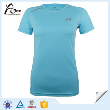 Lady Shirt Polyester Custom Printing Running Wear