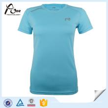 Lady Shirt Polyester Custom Impression Vêtements de course