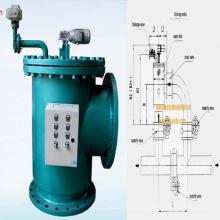 Automatischer Brushaway Wasserfilter für Warmwasserbadheizung