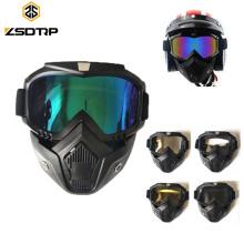 Óculos de proteção feitos sob encomenda da máscara da motocicleta de Google da equitação do vintage da competência completa da cara completa