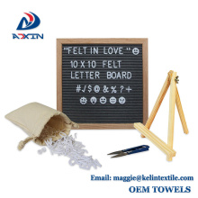 10x10 Zoll Holzrahmen Werbung Briefbogen Filz Brief Board