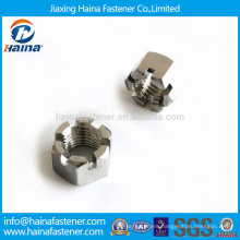 Good quality A2-70 stainless steel slotted nut