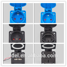 LP-032 16A-9H 200-250V 3P+E IP44 CE INDUSTRIAL PLUG COUPLER