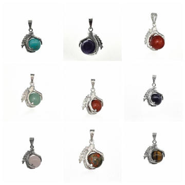 Wholesale Fashion Jewelry Aquatic Agate Sphere Dragon Ball Claw Pendant