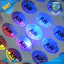Anti-falsificación de tinta uv holograma de impresión holograma / 3D holograma