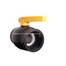 Robinet à tournant sphérique en cuivre de haute qualité de garnitures de tuyau de PE