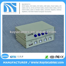 Manual 4 Port USB 2.0 PC Scanner Printer Sharing Switch Box