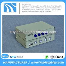 Manual 4 Port USB 2.0 Scanner para PC Printer Sharing Switch Box