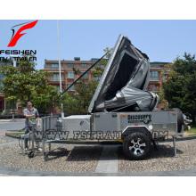 Caravane de plancher dur avec système de tente et cuisine de grande qualité