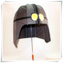 Kreativer Sun-Rain-gerader Regenschirm in der Sturzhelm-Form für Förderung