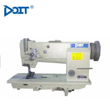 DT 4420 personalizado compuesto de alimentación cama plana doble aguja resistente bolsas de cuero que hace la máquina de coser industrial