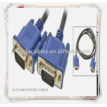 15 broches VGA SVGA mâle à mâle M / M Cordon de câble de moniteur