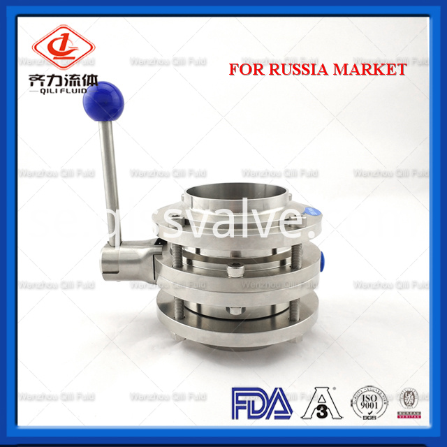 Sanitary Stainless Steel Butterfly Valve 116