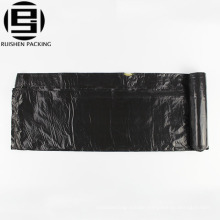 Epi biodegradable cheap plastic black drawstring garbage bags