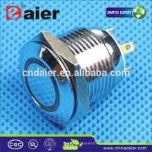 Daier GQ16F-10E Interruptor pulsador LED momentáneo