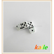 Doppelte sechs Green Marble Effect Domino