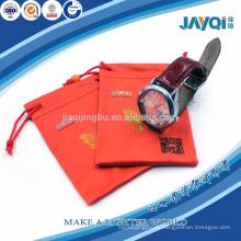 Бронзированный красный карман из микрофибры для часов