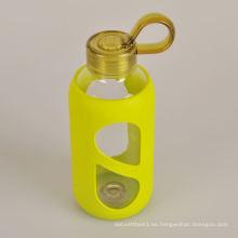 2015 botella de cristal de agua sana promocional de los nuevos productos