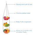 Fashion Adjustable 3-Tier Hanging Metal Fruit Basket Vegetable Storage Kitchen Countertop Fruit Basket