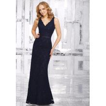 Black Backless Lace Sheath Evening Cocktail Bridal Bridesmaid Dress