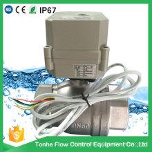 2 Inch 2 Way Dn50 Ss304 aço inoxidável Cr501 Válvula de esfera motorizada elétrica