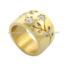 Bague en or plaqué or 2014 bijoux personnalisés avec cristal
