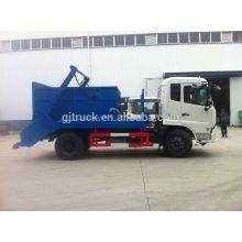 3-6 mètres cubes Dongfeng Furuika swing bras camion à ordures à vendre