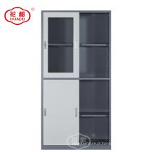 Personalize o armário de armário de aço da porta deslizante da mobília de escritório de luoyang