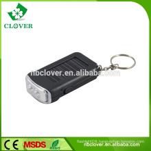 ABS mini led flashlight 2 LED solar keychain