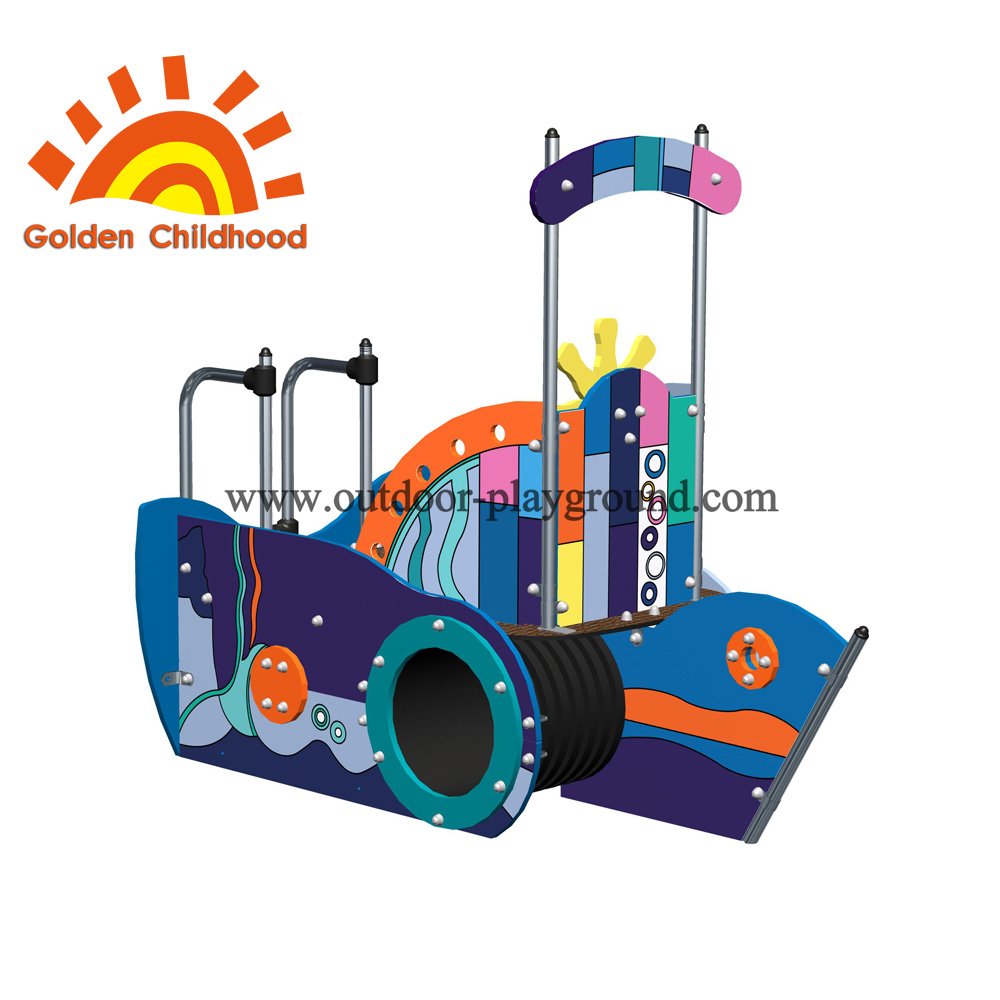 Colorful Picture Ship Outdoor Playground Facility For Children