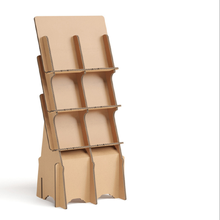 Corrugated cardboard display rack