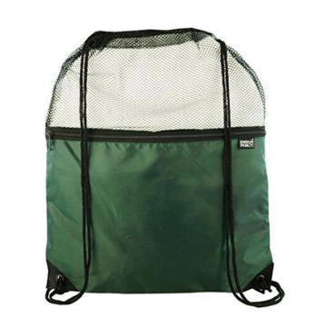 Popular Mesh And Nylon Drawstring Backpack