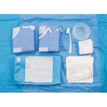 Pacote descartável de cortina cirúrgica para laparoscopia