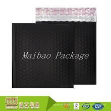 Mailers noirs mates faits sur commande de bulle de papier d'aluminium de coutume de film d'aluminium multi-usage avec le logo
