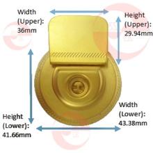 Woman Handbag Zinc Alloy Metal Round Circle Case Lock