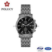 Inox 316L acier inoxydable hommes Quartz bracelet montre avec chronographe
