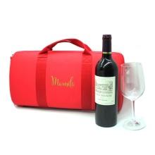 Caixa vermelha por atacado do armazenamento do vidro de vinho de EVA com etiqueta confidencial