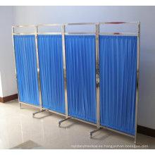 Pantalla de hospital con cuatro ventiladores