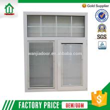 fenêtre blanche coulissante en aluminium avec stores intégrés