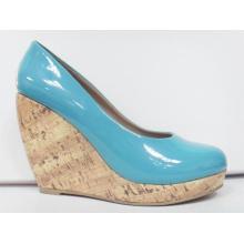 2016 Fashion High Heel Wedge Kleid Schuhe (HCY03-105)