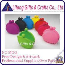 Colorful Top Fashion Silicone Coin Purse for Lady