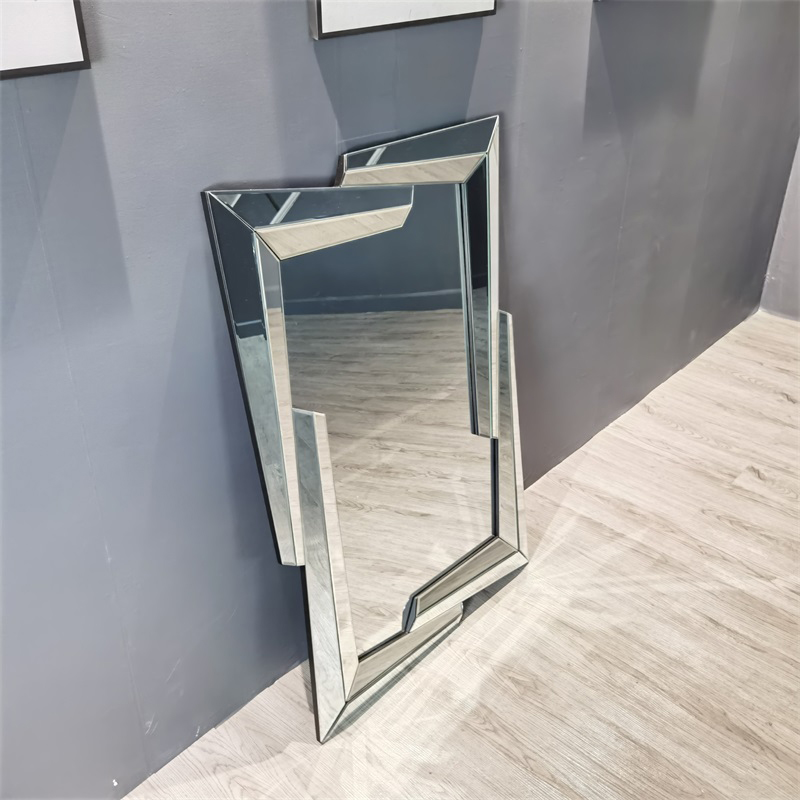 Modern Beveled Oversized Bathroom Hanging MDF Mirror