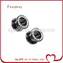 Stainless steel shaped ear plug tunnel body piercing jewelry