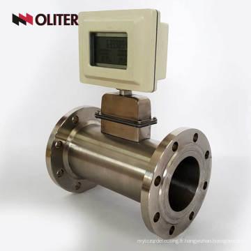 capteur de débitmètre d'air à gaz alimenté par batterie avec écran LED