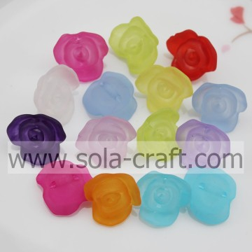 Fashion Plastic Matte Rose-shaped Beads with Exquisite Design for ornament jewelry