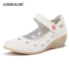 2013 wholesale white high heel soft genuine leather nursing shoes