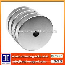 ISO / TS 16949 Material magnético de la forma del disco del neodimio sinterizado certificado / anillo ndfeb magnet para la venta