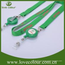 Plástico de alta calidad retráctil badge tira tirones con cordón