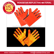 High visibility reflective glove for police