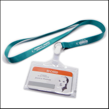 Nom extensible / carte d'identité Badge Reel Holder Custom Lanyard with Clips (NLC020)